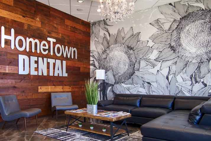 Waiting area at one of the offices at HomeTown Dental at Lake Worth.